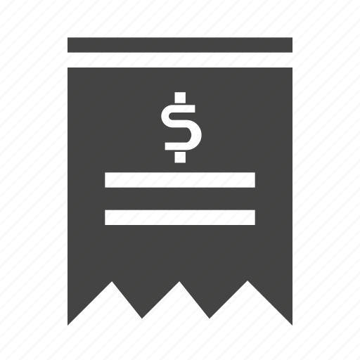 dollar, ecommers, list, paper, shopping icon