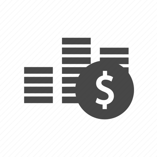 accounting, business, coin, commercial, dollar icon