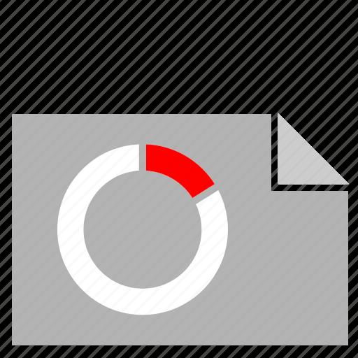 chart, document, economic, file, share icon