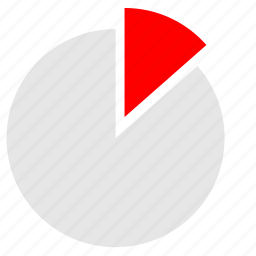 chart, circle, economic, piece, red icon