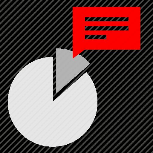 chart, circle, economic, report, share icon