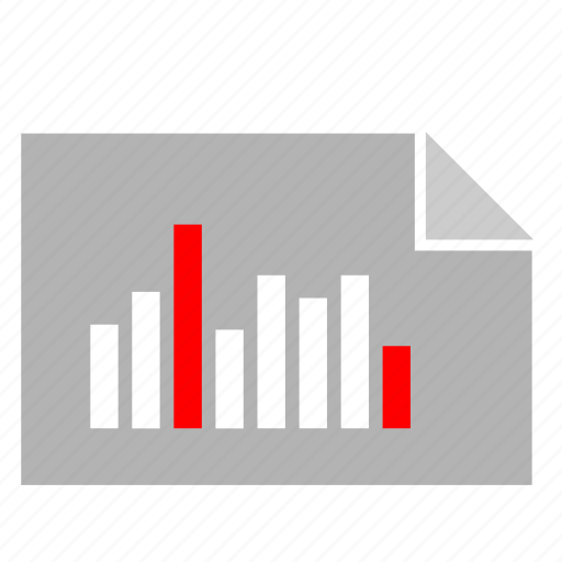 bar, chart, document, economic, file, report icon