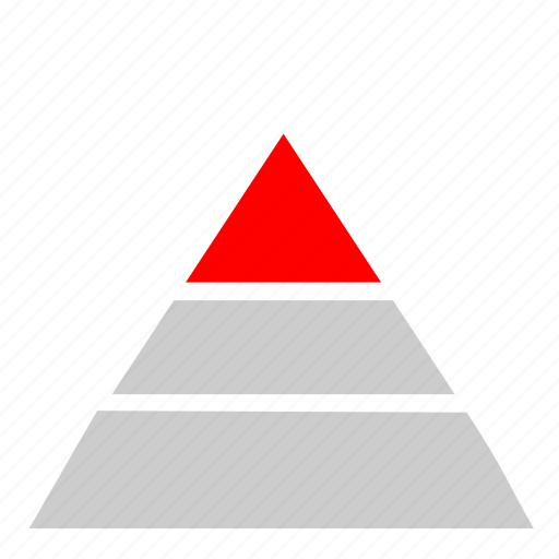 chart, economic, statistics, triangle icon