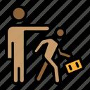 economic issues, employee firing, employee kicking, jobless, termination, worker firing