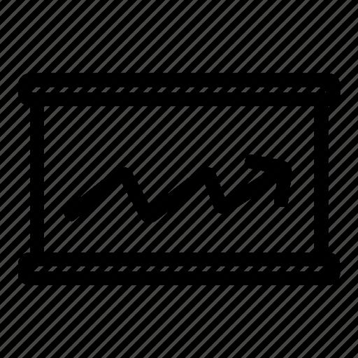 arrow, chart, diagram, economics, graph, line icon