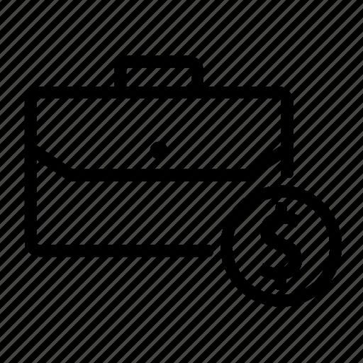bag, business, commerce, dollar, economics, money icon