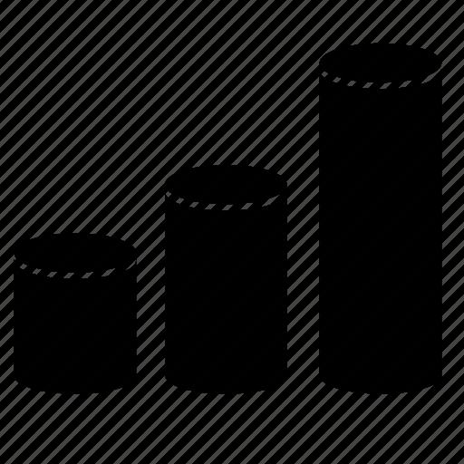 database, economics, metrics, statistics icon
