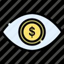eye, money, succes, vision