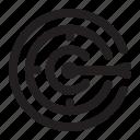 aim, business, goal, success, target icon