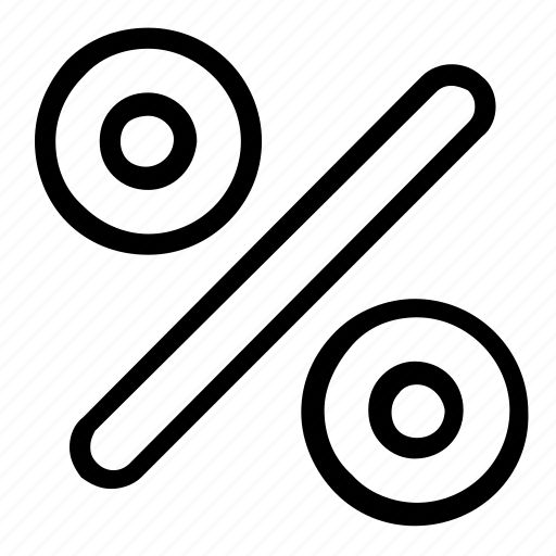 calculation, discount, percentage icon
