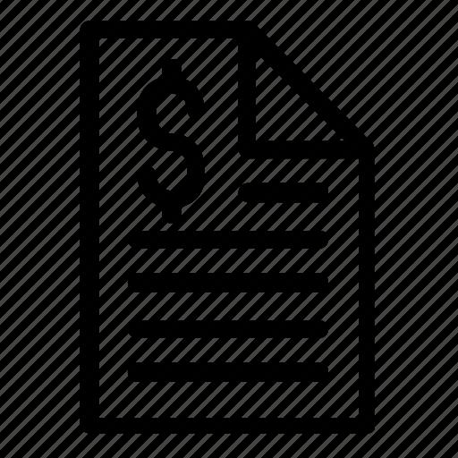 document, finance icon