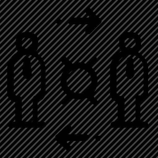 exchange, target icon