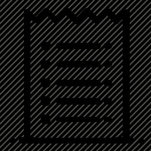 print, receipt icon