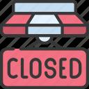 closed, shop, closing, closesign
