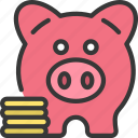 savings, piggy, bank, money, coins