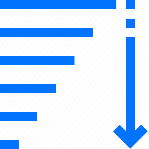change, command, descending, down, editor, order, sorting icon