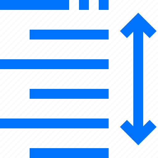 editor, format, height, increase, layout, line, paragraph icon