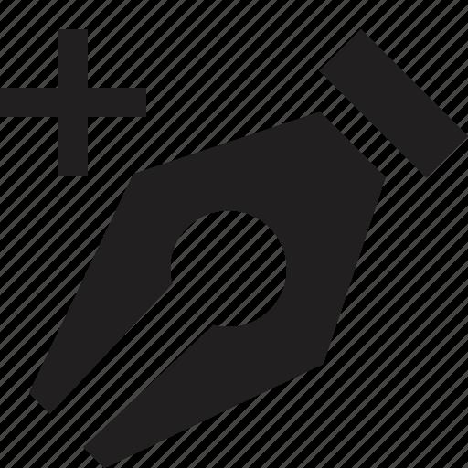 add, design, edit, line, pen icon