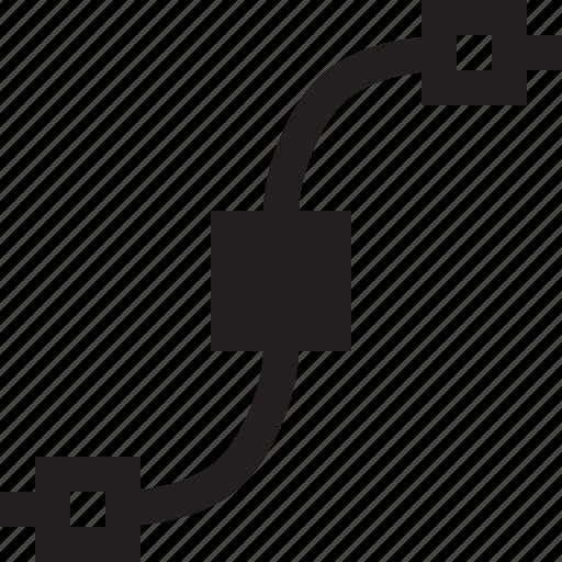 Path, design, line, shape icon - Download on Iconfinder