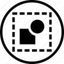 circle, deselect, design, dotted, shape, square