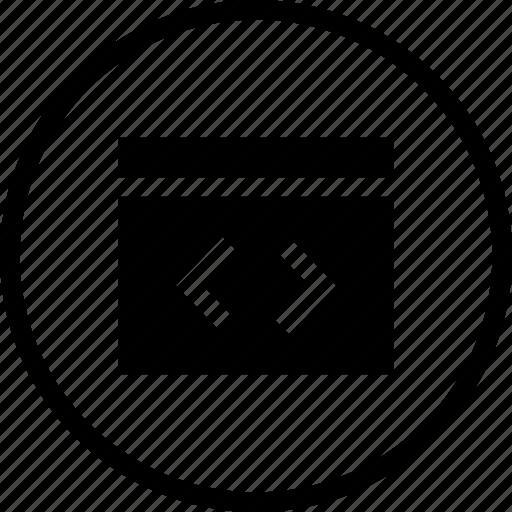 coding, css, development, editor, html, window, xml icon