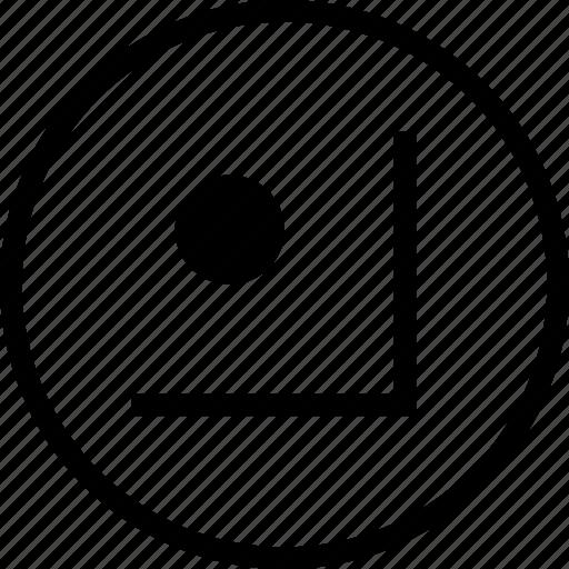 corner, edge, edges, grid, object, snap, tool icon