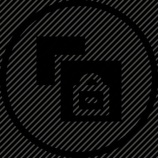 document, file, lock, paper, private, safe, window icon