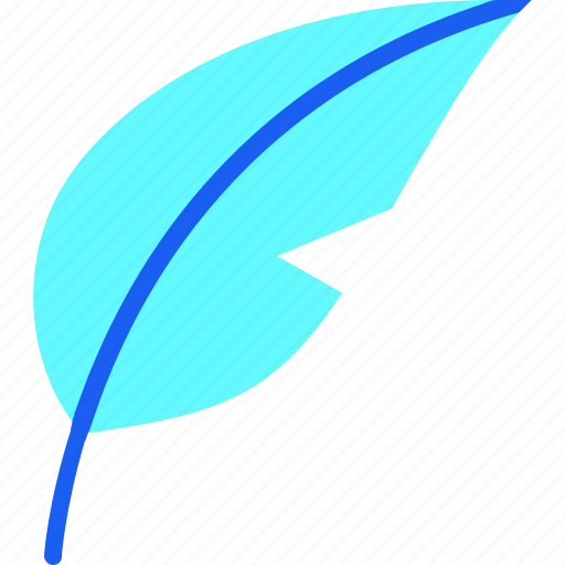 bird feather, editorial, feather, ink, pen, plume, quill icon