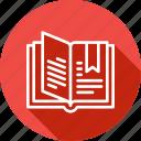 catalog, education, learning, mark, open, reading icon