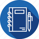 jotter, notepad, pad, scratch, stationery, writing icon