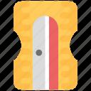 handheld pencil sharpener, school material, school supplies, sharpener, pencil sharpener icon