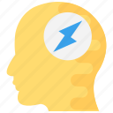 brain flash sign, brain potential, brain process, brainstorming, creative thinking icon
