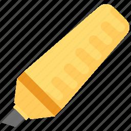 board marker, highlighter, marker, stationery icon