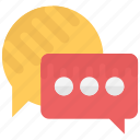 babbling, chatting, speech bubble, talk, talking icon