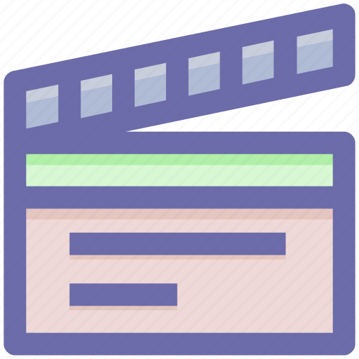 Svg Action Clapboard Film Action Movie Movie Action Video Icon