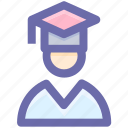 .svg, degree, graduation, man, people, profession, student icon