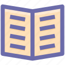 .svg, book, education, open book, reading, study icon
