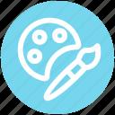 .svg, art, brush, drawing, paint, paint brush, paint palette icon
