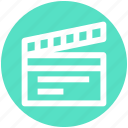 .svg, clapboard, film action, movie, movie action, video icon