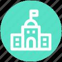 .svg, apartment, building, education, school, school building icon