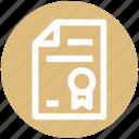 .svg, award page, certificate, first, page, page raking, ribbon icon