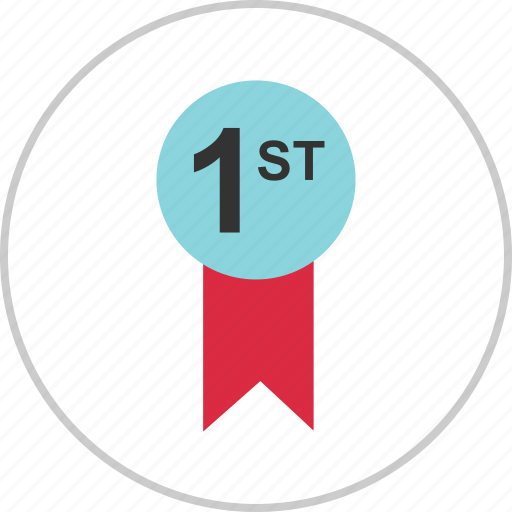 Number, number one, one, place, reward, ribbon, 1 icon - Download on Iconfinder