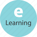 elearning, electronic, internet, learning, online, web icon