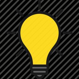awareness, bulb, idea, light icon