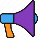 amplifier, marketing, megaphone, speaker icon