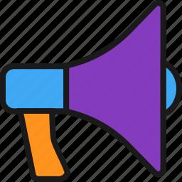 amplifier, marketing, megaphone, speaker icon