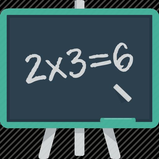 board, chalk, chalk board, lesson, math, multiplication, school, student, teach icon