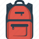 bag, bagpack, rucksack icon