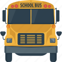 autobus, bus, coach, school, school bus, transportation icon