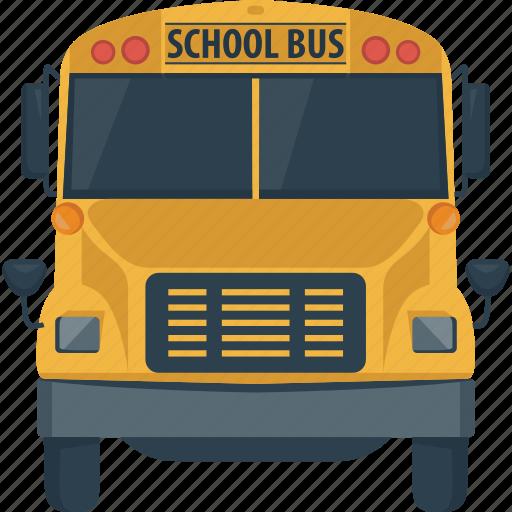autobus, bus, coach, school, school bus, transportation icon